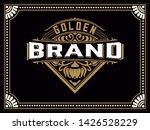 old  label design for whiskey...   Shutterstock .eps vector #1426528229