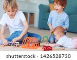 cute kids  siblings playing...   Shutterstock . vector #1426528730