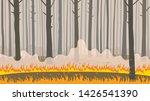 natural disaster forest fire.... | Shutterstock .eps vector #1426541390