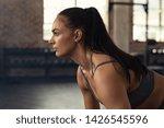 young woman doing squat...   Shutterstock . vector #1426545596