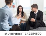 young couple with a problem to... | Shutterstock . vector #142654570