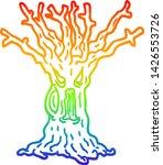 rainbow gradient line drawing... | Shutterstock .eps vector #1426553726