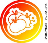 juicy apples circular icon with ... | Shutterstock .eps vector #1426553846