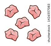 pre cut color icon. butchers... | Shutterstock .eps vector #1426557083