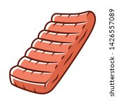 ribs color icon. butchers meat. ... | Shutterstock .eps vector #1426557089