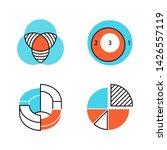 diagrams color icons set. data... | Shutterstock .eps vector #1426557119