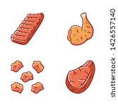 butchers meat color icons set.... | Shutterstock .eps vector #1426557140