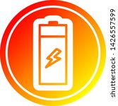 battery circular icon with warm ... | Shutterstock .eps vector #1426557599