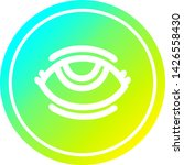 eye with cool gradient finish... | Shutterstock .eps vector #1426558430