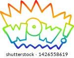 rainbow gradient line drawing... | Shutterstock .eps vector #1426558619