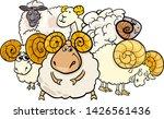 cartoon illustration of ram or... | Shutterstock .eps vector #1426561436