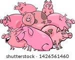 cartoon illustration of happy... | Shutterstock .eps vector #1426561460