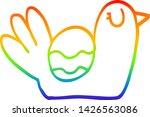rainbow gradient line drawing... | Shutterstock .eps vector #1426563086