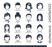 set of avatar or user icons.... | Shutterstock .eps vector #1426563323