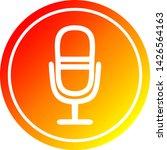 microphone recording circular... | Shutterstock .eps vector #1426564163