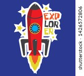 rocket vector for kids tshirt | Shutterstock .eps vector #1426572806