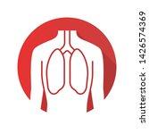 healthy lungs flat design long... | Shutterstock .eps vector #1426574369