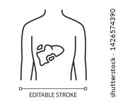 ill liver linear icon.... | Shutterstock .eps vector #1426574390