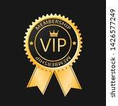 vip membership gold badge ...   Shutterstock .eps vector #1426577249