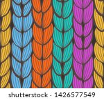 seamless pattern of pigtails.... | Shutterstock .eps vector #1426577549