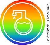 chemical vial circular icon... | Shutterstock .eps vector #1426584026