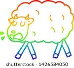 rainbow gradient line drawing... | Shutterstock .eps vector #1426584050