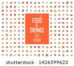food and drinks color icons big ... | Shutterstock .eps vector #1426599623