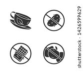 low carbs glyph icons set. no... | Shutterstock .eps vector #1426599629