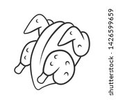 chicken carcase linear icon.... | Shutterstock .eps vector #1426599659