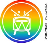beating drum circular icon with ... | Shutterstock .eps vector #1426605866