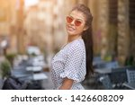 young pretty woman smiling.... | Shutterstock . vector #1426608209