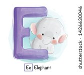 Stock vector cute animal alphabet series a z 1426630046