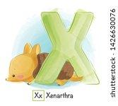 Stock vector cute animal alphabet series a z 1426630076