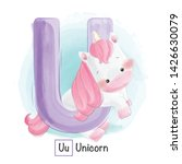 cute animal alphabet series a z | Shutterstock .eps vector #1426630079