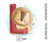 Stock vector cute animal alphabet series a z 1426630103