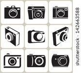 photo camera icon set | Shutterstock .eps vector #142663588