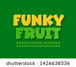 vector bright logo funky fruit... | Shutterstock .eps vector #1426638536