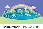 illustration of rainy season...   Shutterstock .eps vector #1426642283