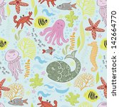 pattern of the underwater world | Shutterstock .eps vector #142664770