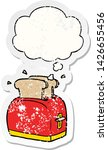 cartoon toaster with thought... | Shutterstock .eps vector #1426655456