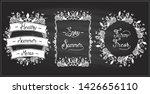 vegetable frames set on a... | Shutterstock .eps vector #1426656110