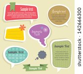 speech bubbles text box   Shutterstock .eps vector #142666300
