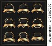 vector gold badge set  premium...   Shutterstock .eps vector #1426667270
