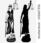Lady Justice Silhouette And...