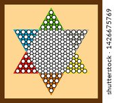 Chinese Checkers Game Board  ...