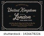 vintage brush script modern... | Shutterstock .eps vector #1426678226