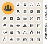 business icons set.... | Shutterstock .eps vector #142668526