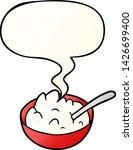 cartoon bowl of porridge with... | Shutterstock .eps vector #1426699400
