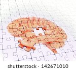 Stock photo brain jigsaw puzzle memory concept illustration 142671010