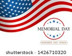 memorial day. remember and... | Shutterstock . vector #1426710320